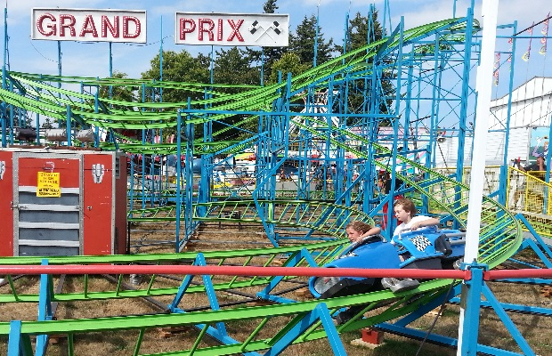 Dave's grandkids review the fair